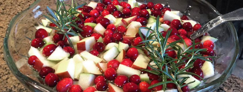 Cranberry & Rosemary White Christmas Sangria